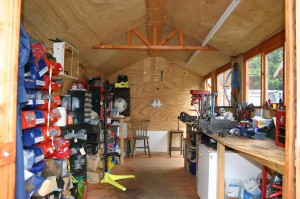 The workshop tidied and ready for students